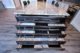 Our selection of granite countertops at the design
