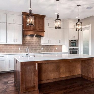 Beautiful interior renovation on a kitchen.