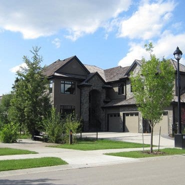 A large home that had an exterior renovation.