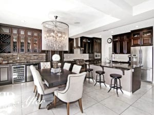 dark stained kitchen renovation calgary