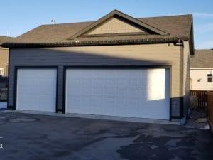 double detached garage renovation calgary