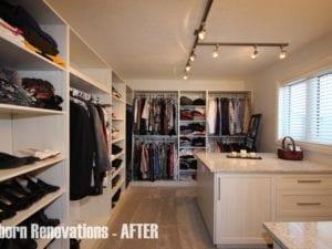 custom walk in closet okotoks