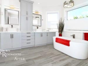 bathroom renovation custom cabinets