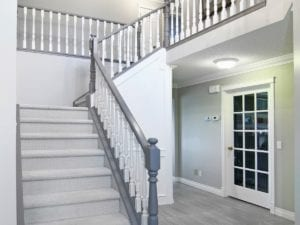 oak railing painting calgary