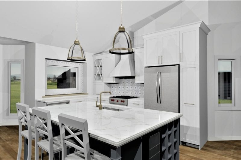 interior design white kitchen