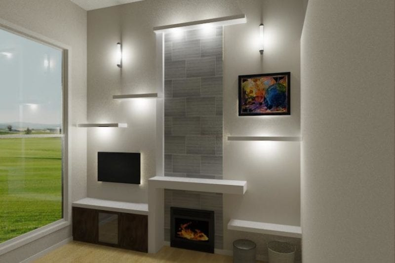 wall mantel design