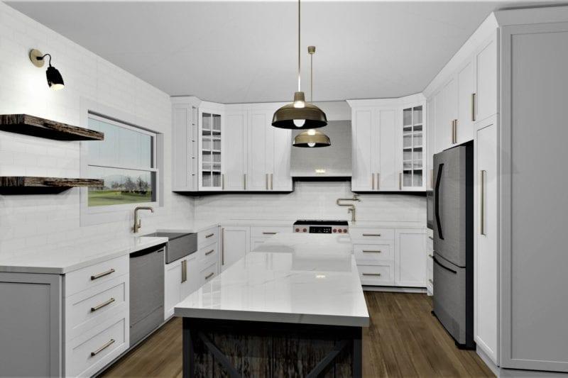 gold kitchen design
